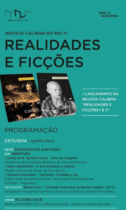 Lançamento Revista Calibán Rio!