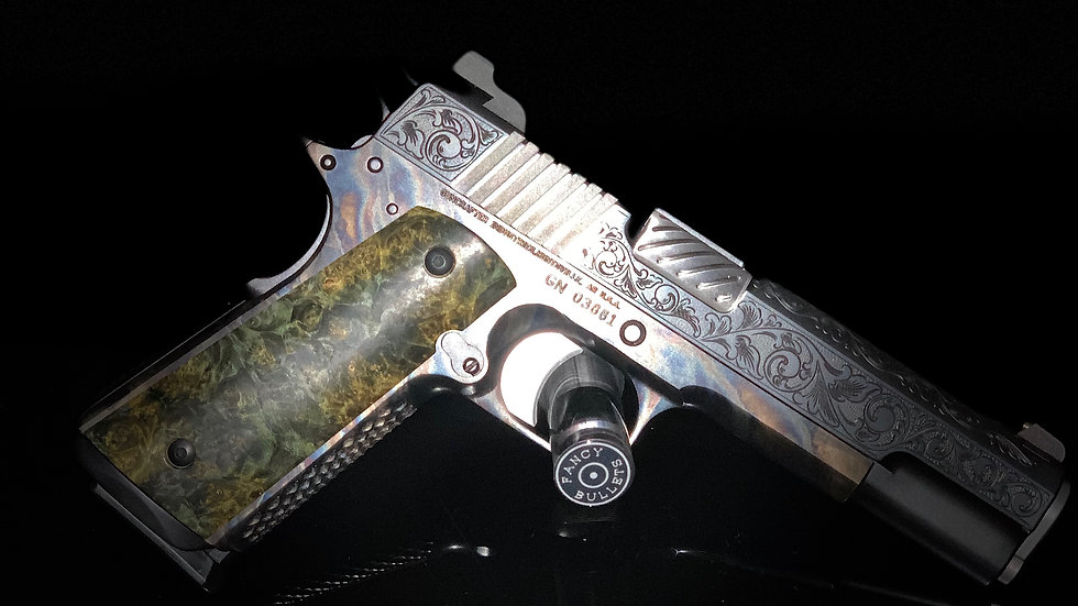 Hot Salt Blue Renaissance .45 ACP with Color Case Hardened Frame