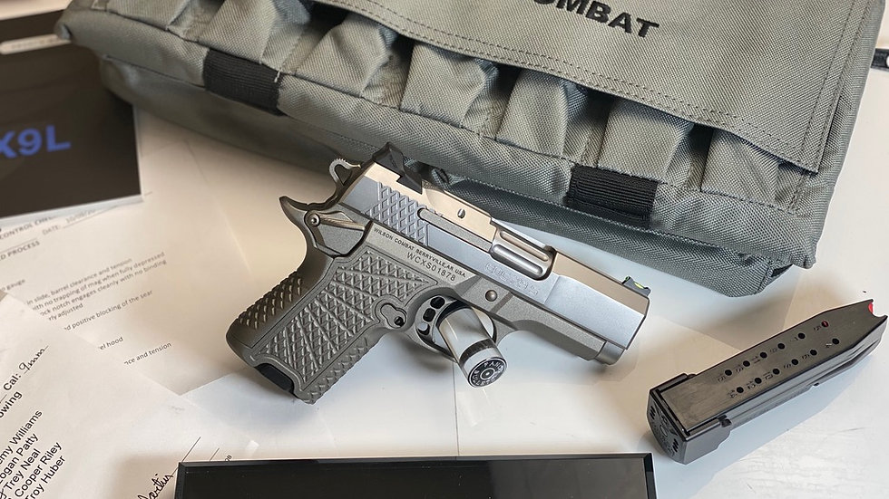 WILSON COMBAT, EDCX9S CUSTOM MATTE BEAD BLAST FINISH 9MM