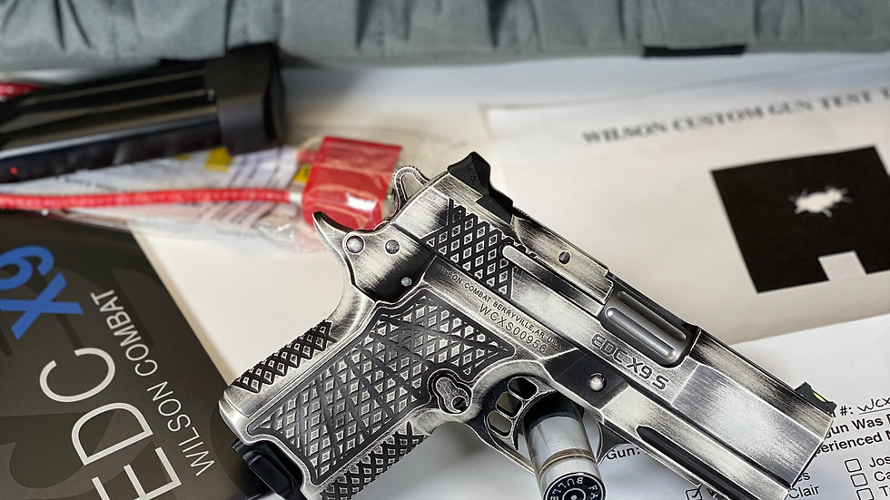 WILSON COMBAT EDC X9S WITH LIGHTRAIL IN DISTRESS WHITE 9MM