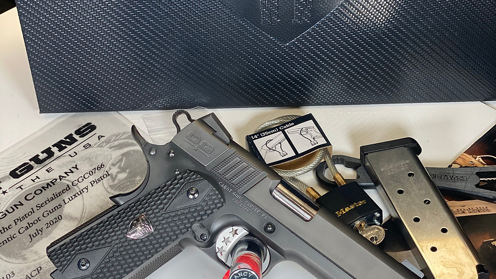 CABOT S103 Commander 1911 Style .45 ACP with Black DLC finish on Stainless Steel