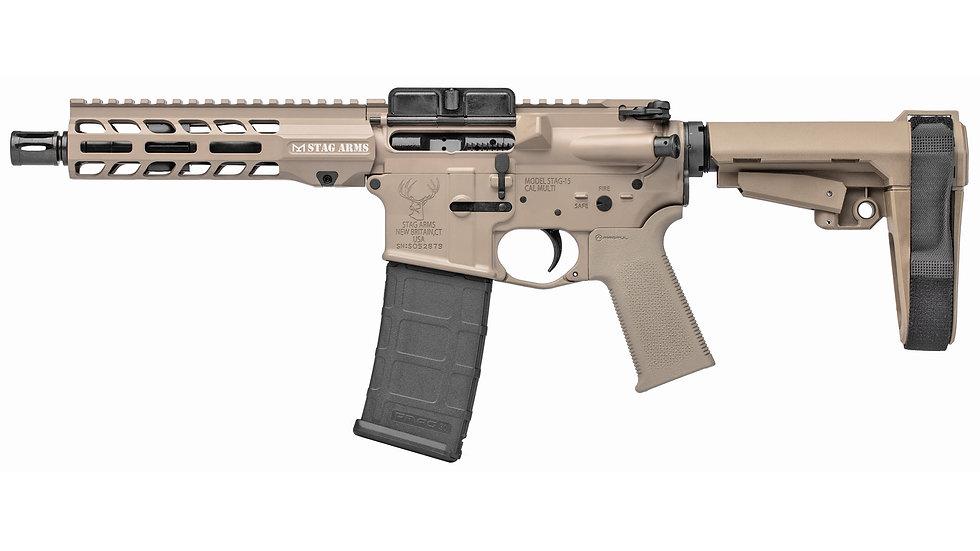 "Stag Arms LLC, STAG-15, Semi-automatic, AR, 556NATO, 7.5"", Aluminum, Flat Dark E"