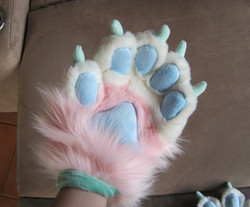 Custom Pink Fursuit Paws