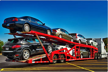 car transport via truck and trailer
