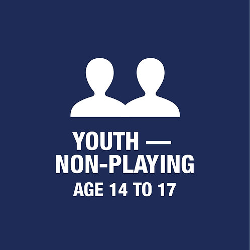 Youth - Non Playing - Age 14 to 17 Membership