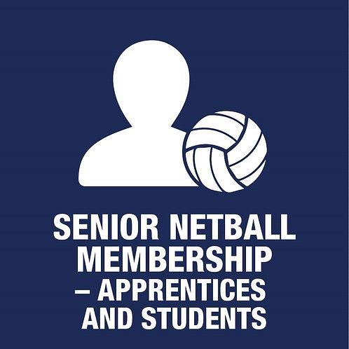 Senior Netball Player- Membership  Apprentice / Student (Incl. GC ticket & kit)