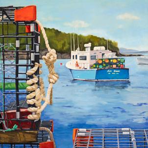 Paint Pots, Lobster Boat in Bar Harbor