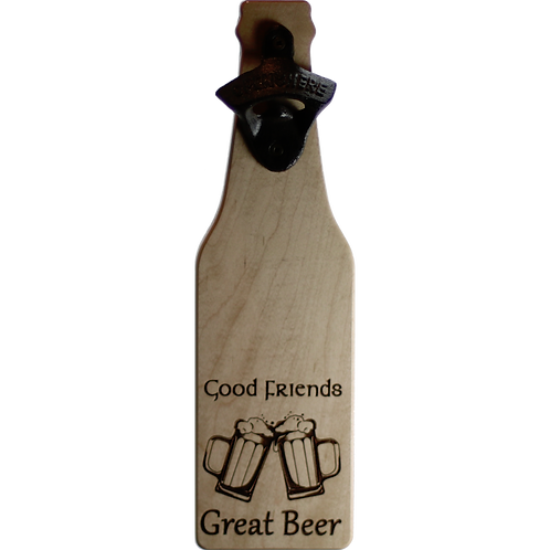 Bar - Good Friends Great Beer (maple) Bottle Opener
