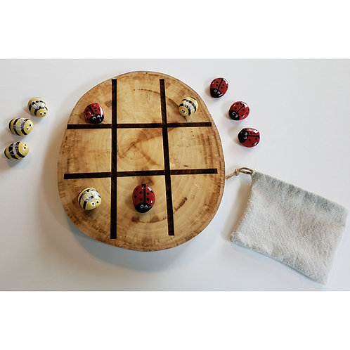Game - Tic Tac Toe & Game of Stones - Ladybugs and Bees