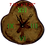 Thumbnail: Clock - Green textured stained glass in Aspen