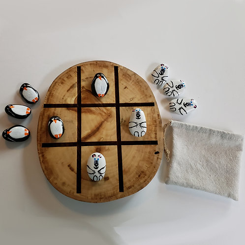 Game - Tic Tac Toe & Game of Stones - Penguins and Polar Bears