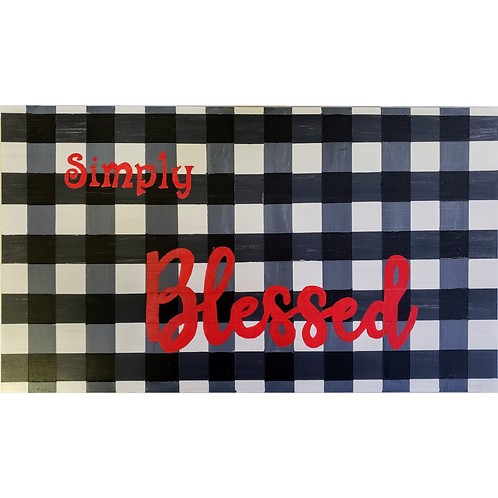 Home - Simply Blessed Buffalo Plaid sign