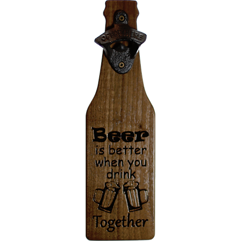Bar - Beer is better when you drink together (walnut) Bottle Opener
