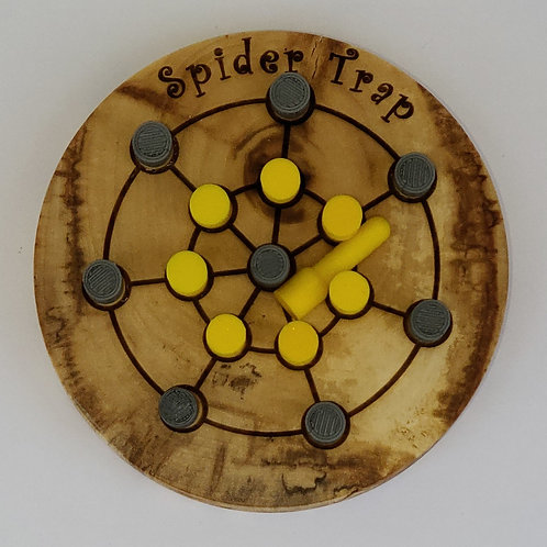 Game - Finished Edge Spider Trap - Yellow and Gray Pegs