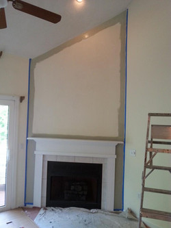 Accent wall & fireplace remodel B