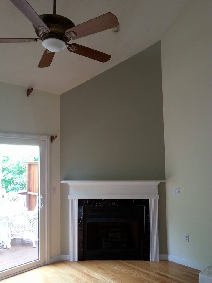 Accent wall & fireplace remodel A