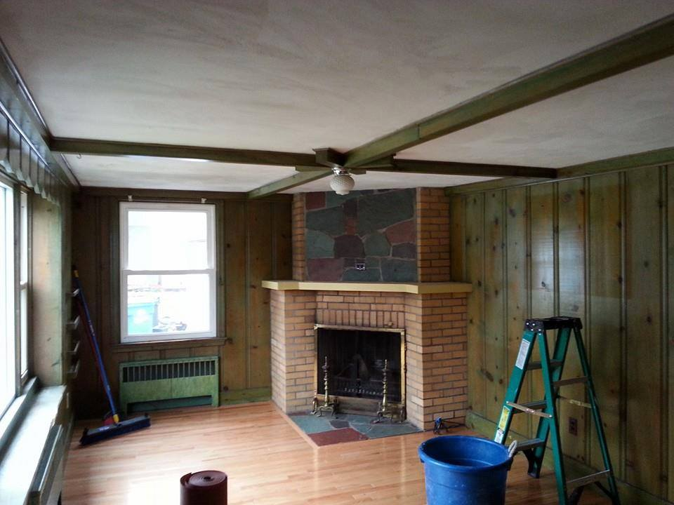 Ceiling & mantle B