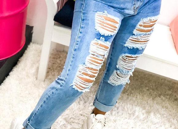 Calca Jeans Rasgos