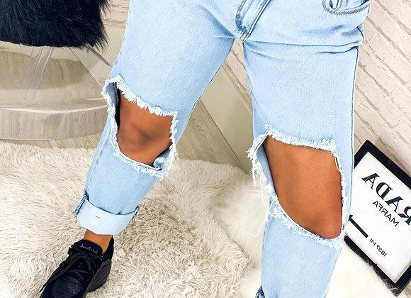 Calca Jeans 1 Rasgo Clara