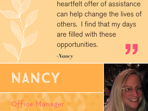 """Celebrating Nancy! """"She has transformed office management's relationship with employees."""""""
