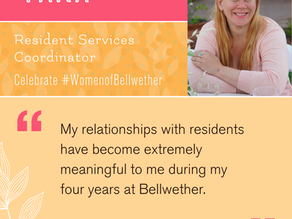 """Celebrating Tara! """"Bellwether residents have taught me a lot about overcoming challenges"""""""