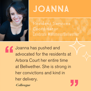 """Celebrating Joanna! """"She is strong in her convictions and kind in her delivery. """""""