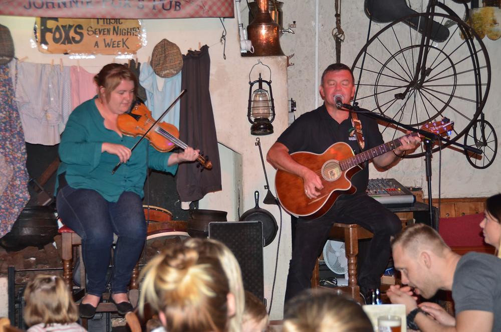 Traditional Irish music at Johnnie Fox's