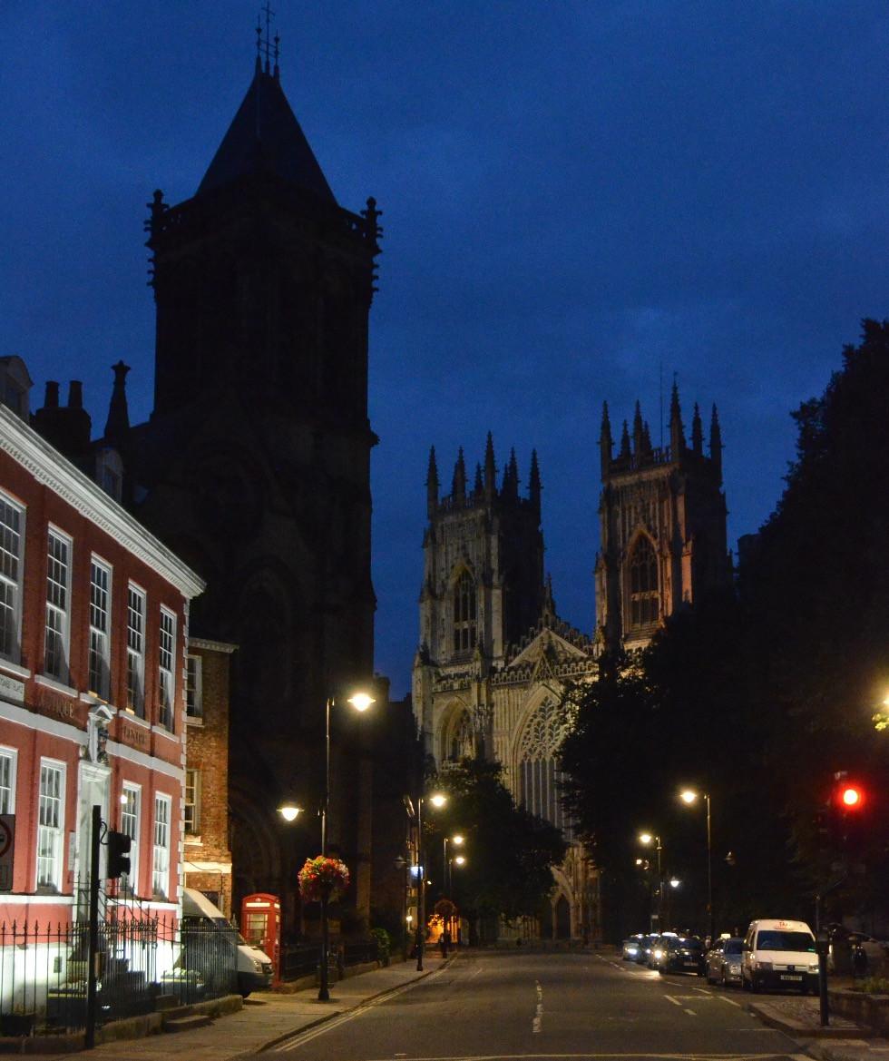 With the wedding over, we enjoy a twilight walk around York
