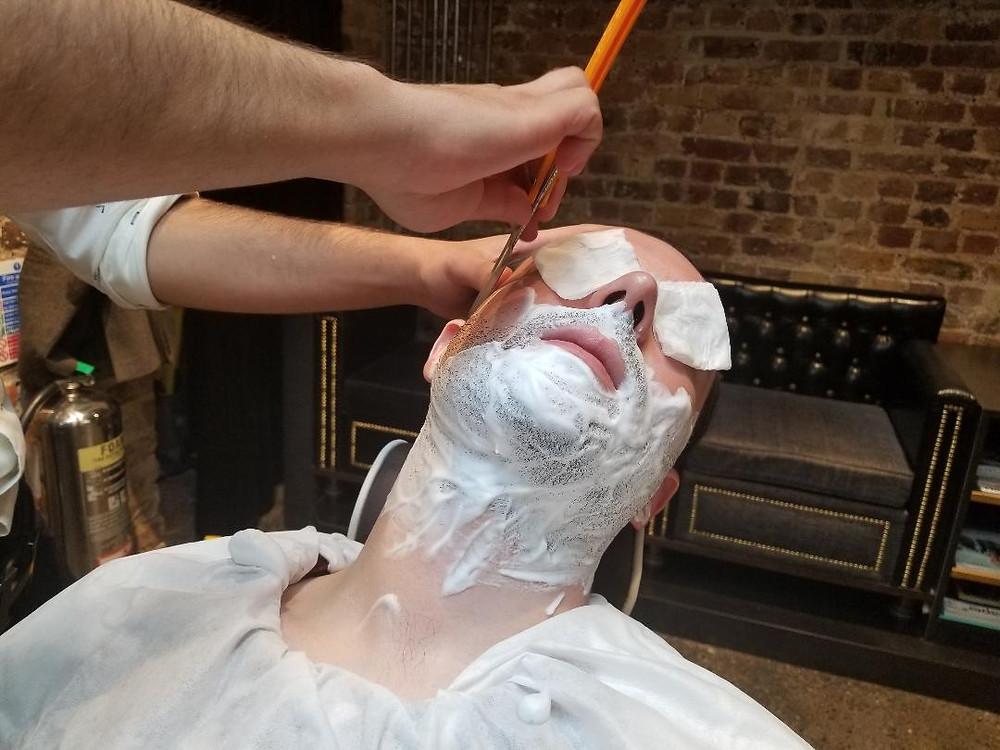 Pierce - getting a close shave