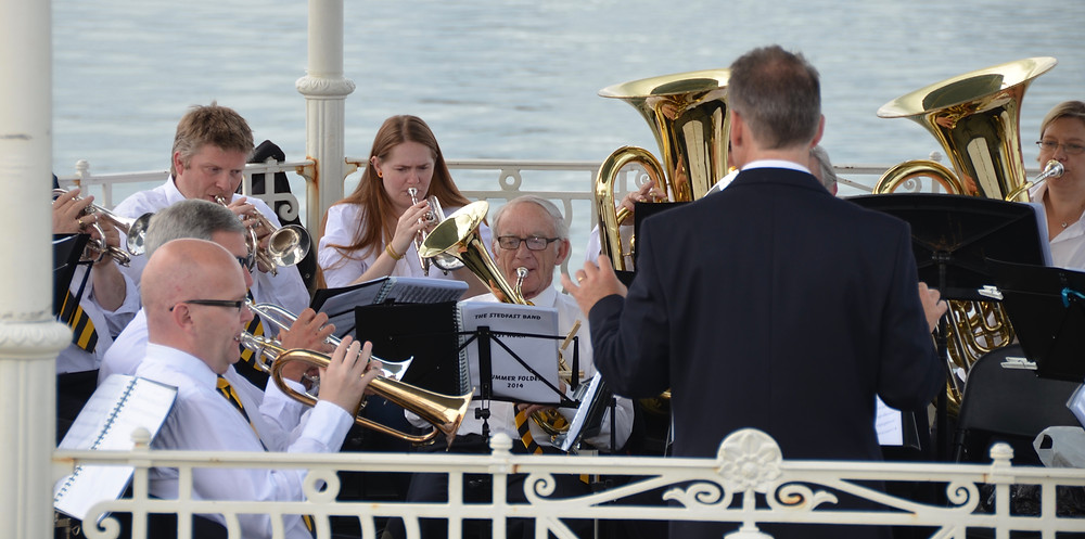 On the Dun Laoghaire bandstand