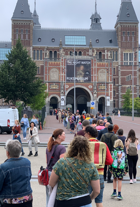 A masterpiece restored. Confusion at lunch. Lighting a candle in memory. It's day 4 in Amsterdam.