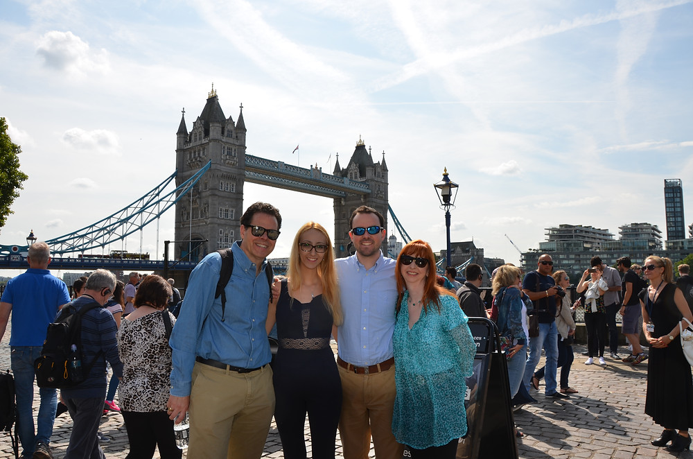 In front of Tower Bridge with Ghazal, Pierce and Grainne