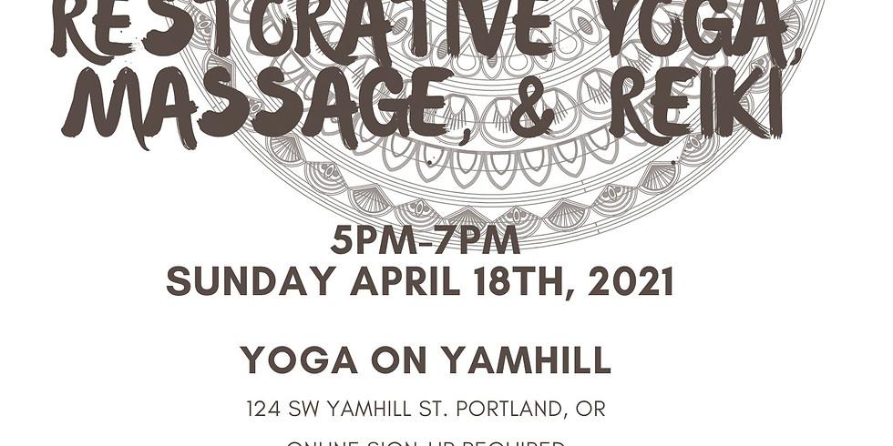 Restorative Yoga, Massage & Reiki