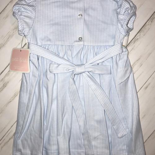 ccda9137d9c76 Petit Bebe Pima Cotton Pumpkin Smocked Collared Dress