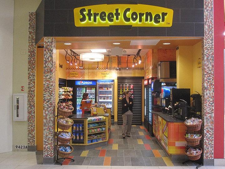 Street Corner Store        Glendale Galleria Shopping Mall