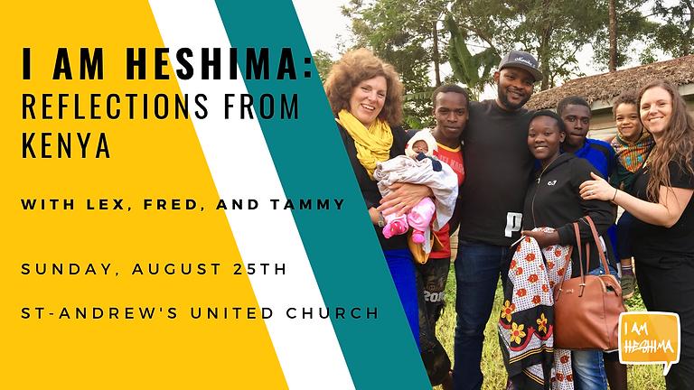 I am Heshima: Reflections From Kenya