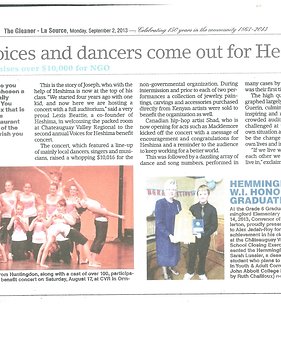 5. Gleaner article Voices for Heshima 20