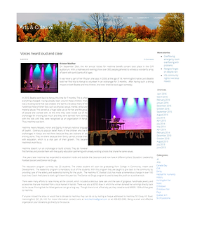 8. Valley Junction article. Voices for H