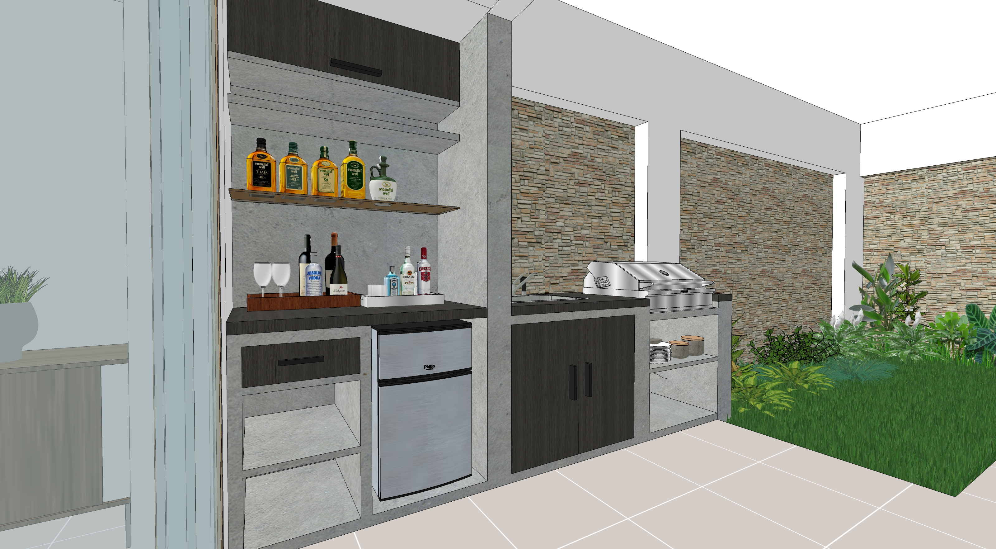 Vista Zona Bar - Parrilla