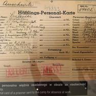 Prisoner record, Auschwitz 1