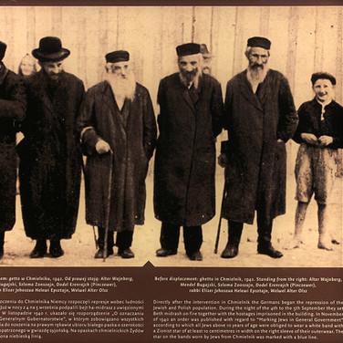 Chmielnik residents and the Rabbi