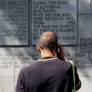 Marq at the Umschlagplatz memorial