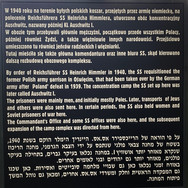 Notice at the entance to Auschwitz 1