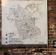 Map of the Warsaw Ghetto and existing part of the ghetto wall