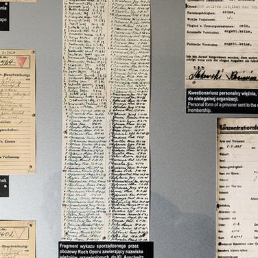 Prisoner records, Auschwitz 1