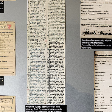 Prisoner records, Auschwitz 1