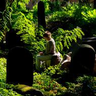 Gabrielle in the Okopowa cemetery