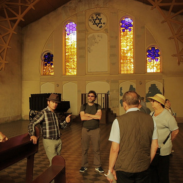 Interior of the Beit Tahara (house of purification)