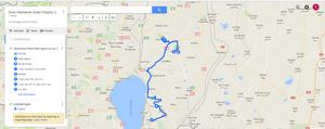 Rosh Hashanah Katzrin Trip Map