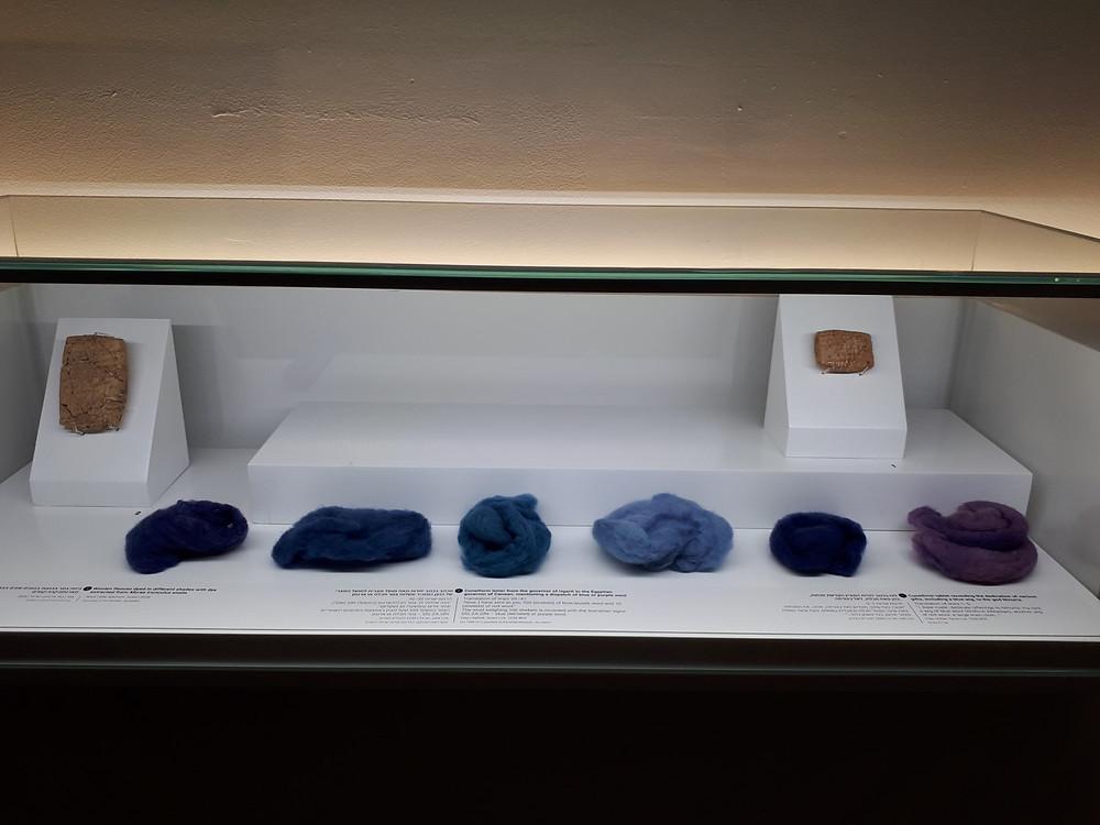 Bible Lands Museum Jerusalem, Out of the Blue Exhibit, Ancient Dyes